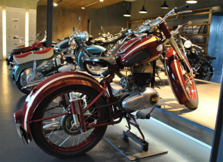 At the Museum for Historic Maybach Vehicles in Neumarkt there is also a small collection of vintage Express mopeds and motorcycles (2011).