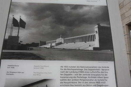 A picture showing how the Zeppelinfeld - at the Former Nazi Party Rally Grounds in Nürnberg - looked in the 1930's.