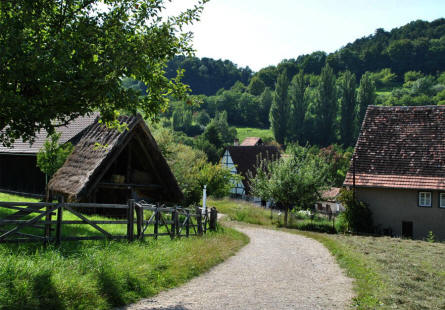 "The Open-air museum ""Beuren"" is located in the hills just south east of Stuttgart."