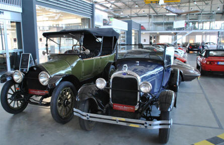 Some of the vintage cars that could be seen at the Meilenwerk Stuttgart in August 2011.