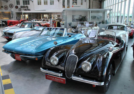 Some of the classic sports cars that could be seen at the Meilenwerk Stuttgart in August 2011.
