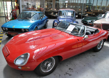 A classic Jaguar sports cars that could be seen at the Meilenwerk Stuttgart in August 2011.