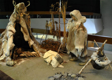 Prehistoric humans displayed at the National Museum of Natural History in Stuttgart.