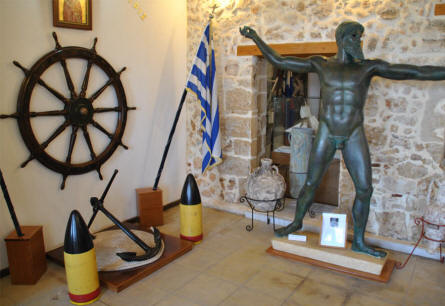 A part of the entrance to the Nautical Museum of Crete in Chania.