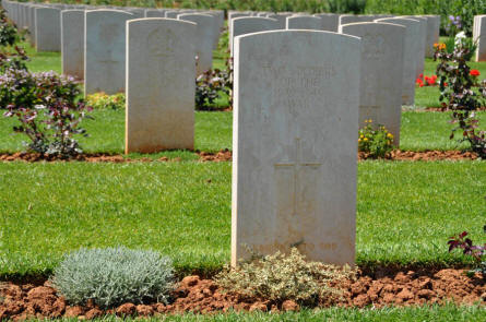 "One of the ""unknown"" World War II graves at the Suda Bay War Cemetery on Crete."