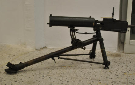 A World War II machine gun displayed at the War Museum of Chania on Crete.