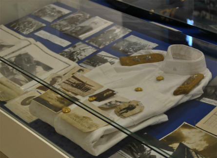 Some of the many smaller World War II items displayed at the War Museum of Chania on Crete.