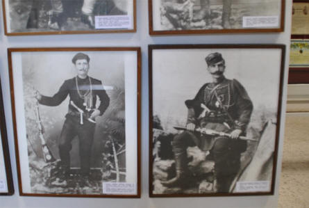 Some of the many pictures displayed at the War Museum of Chania on Crete.