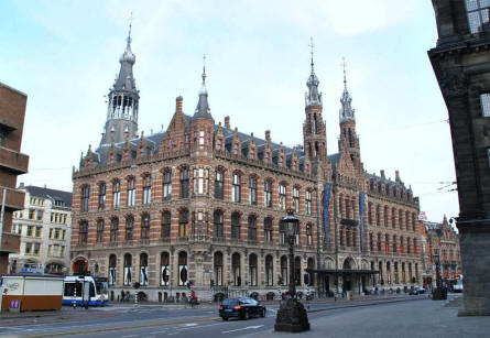 One of the many old and beautiful buildings in Amsterdam.