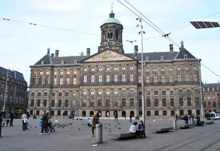 The Royal Palace of Amsterdam - seen from the Dam square.
