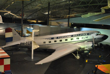A classic 1940's DC-3 displayed at the National Aviation Theme Park - Aviodrome - in Lelystad.