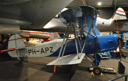 One of the smaller vintage aircrafts displayed at the National Aviation Theme Park - Aviodrome - in Lelystad.
