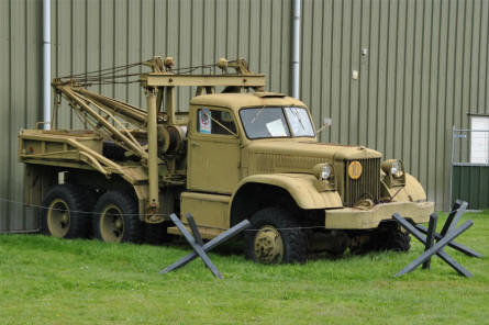 One of the classic military vehicles displayed at the National Aviation Theme Park - Aviodrome - in Lelystad.