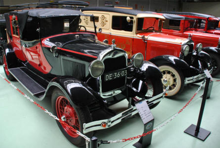 Some of the beautiful Ford cars displayed at Den Hartogh Ford Museum in Hillegom.