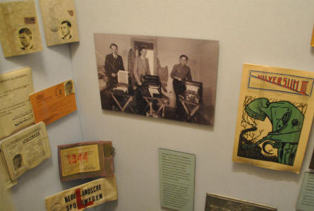 Falsified World War II ID-papers etcdisplayed at the Dutch Resistance Museum in Amsterdam.