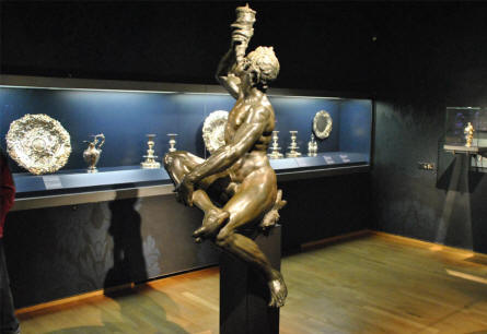 Some of the vintage silver art displayed at the Rijksmuseum in Amsterdam.