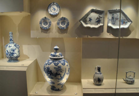 Some of the vintage porcelain displayed at the Rijksmuseum in Amsterdam.