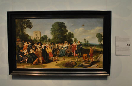 A classic painting by Dirck Hals displayed at the Rijksmuseum in Amsterdam.