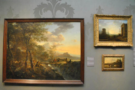 Some of the many classic landscape paintings displayed at the Rijksmuseum in Amsterdam.