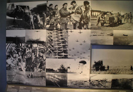 Some of the World War II paratrooper pictures displayed at the Airborne Museum Hartenstein in Arnhem.