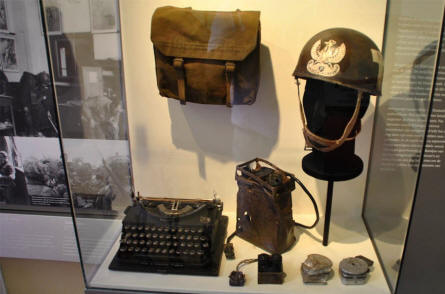 Some of the World War II communication equipment displayed at the Airborne Museum Hartenstein in Arnhem.