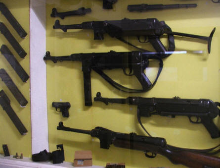 German weapons displayed at the Arnhem War Museum.