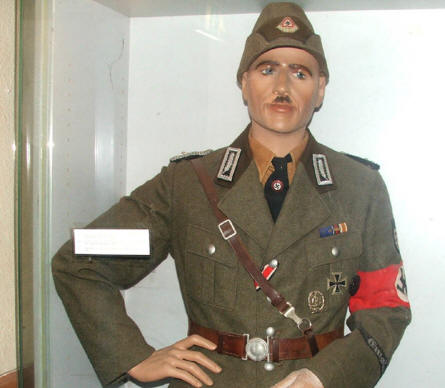 One of the many World War II uniforms displayed at the Arnhem War Museum.