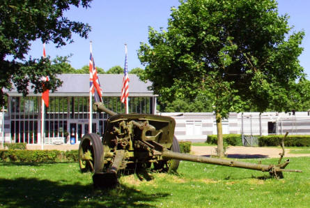 A German World War II anti-tank canon outside the National Liberation Museum 1944-1945 in Groesbeek (near Arnhem).