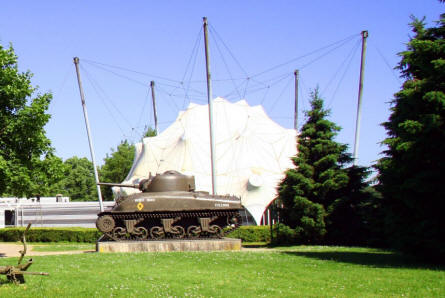 An American World War II Sherman tank outside the National Liberation Museum 1944-1945 in Groesbeek (near Arnhem).