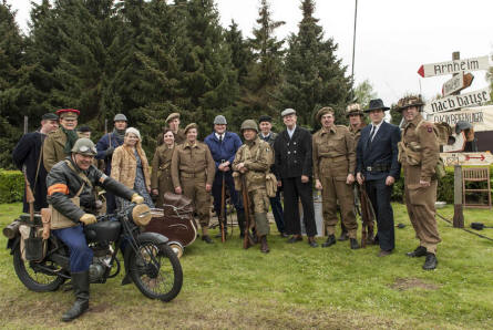 Some World War II reenactors outside the National Liberation Museum 1944-1945 in Groesbeek (near Arnhem).