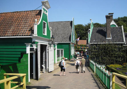 A Dutch wooden village displayed at the National Heritage Museum (Openluchtmuseum) in Arnhem.