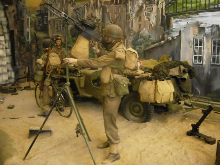 One of the many full-size World War II dioramas at the National War & Resistance Museum in Overloon.