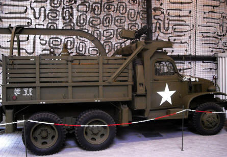 An American World War II truck at the National War & Resistance Museum in Overloon.
