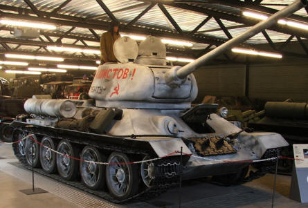 A Russian World War II T-34 tank at the National War & Resistance Museum in Overloon.