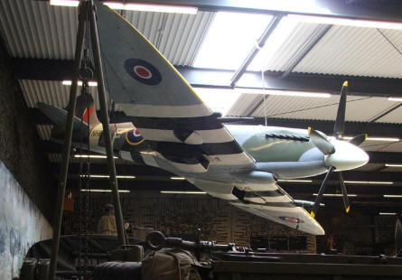 A British World War II Supermarine Spitfire at the National War & Resistance Museum in Overloon.