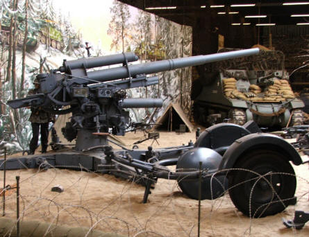 A German World War II 88 mm anti-aircraft and anti-tank gun at the National War & Resistance Museum in Overloon.