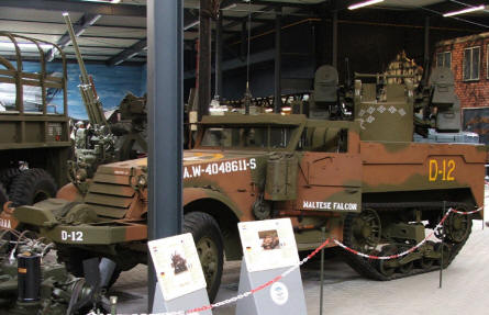 An American World War II half-track vehicle at the National War & Resistance Museum in Overloon.
