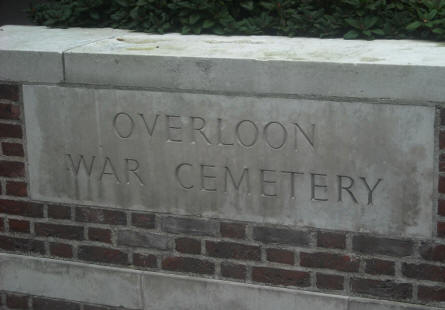 A part of the entrance to the Overloon War Cemetery.