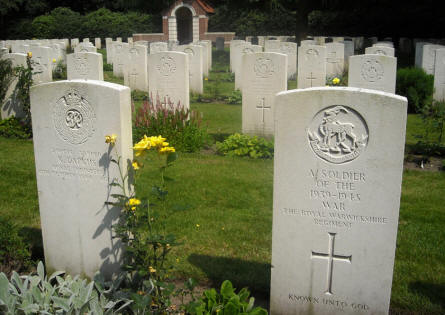 "One of the ""Unnown"" graves at the Overloon War Cemetery."