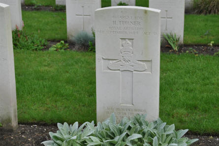 The grave of H. turner at the Valkenswaard War Cemetery. Killed in September 1944.
