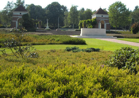 Holten Canadian War Cemetery is located in a very beautiful park.