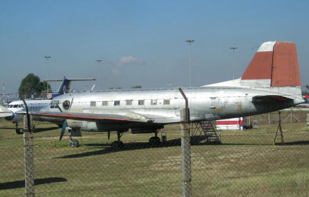 One of the smaller commercial aircrafts at the open-air Aircraft Exhibition at Ferihegy Airport.