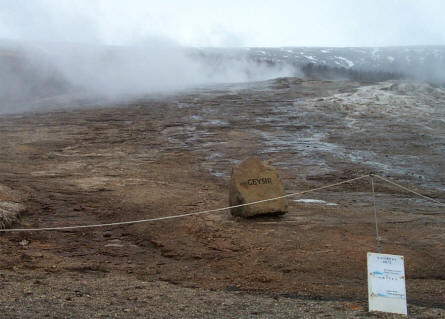 One of the hot springs at the Geysir Center.