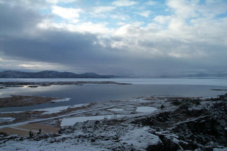 The Thingvellir lake, which is a part of the Thingvellir National Park, is the largest natural lake of Iceland.