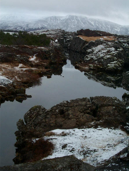 The water at the small lakes and springs at Thingvellir National Park is extremely clear.