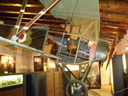 A World War I fighter displayed at the Italian War Museum in Rovereto.