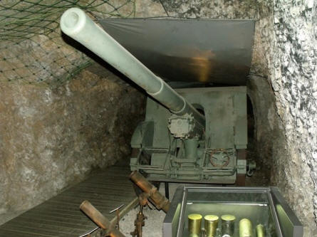 One of the many canons displayed at the Italian War Museum in Rovereto.