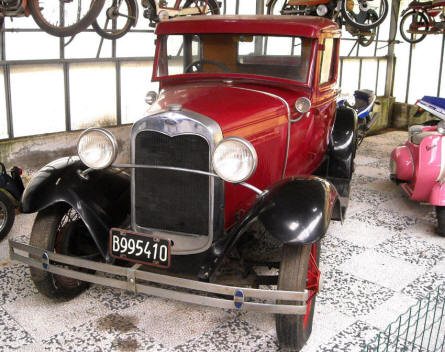 One of the vintage cars displayed at the Museum Gottard Park.