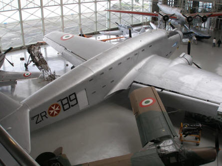A World War II SIAI SM82 at the Italian Air Force Museum in Bracciano (Rome).