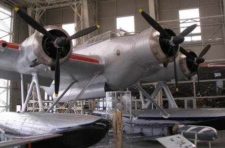 A World War II Cant Z506 torpedo bomber at the Italian Air Force Museum in Bracciano (Rome)